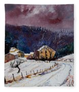 Snow In Sechery Fleece Blanket