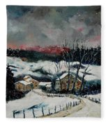 Snow In Sechery Redu Fleece Blanket
