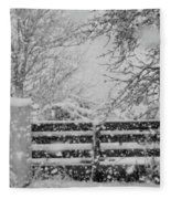 Snow In The Country Fleece Blanket