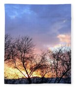 Snow In The Distance Fleece Blanket
