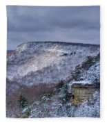 Snow In The Mountains Fleece Blanket