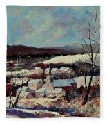 Snow In Vittrival Fleece Blanket