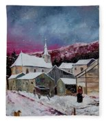 Snow Is Falling Fleece Blanket