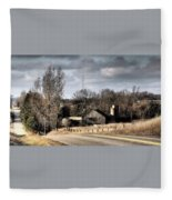 Snow Is In The Air Fleece Blanket