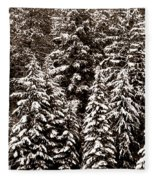 Snow-laden Forest Fleece Blanket