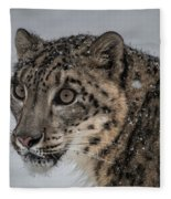 Snow Leopard 2 Fleece Blanket