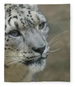 Snow Leopard 8 Fleece Blanket