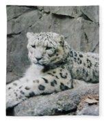 Snow Leopard Fleece Blanket