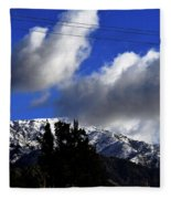 Snow Line In Socal Fleece Blanket