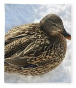 Snow Mallard Fleece Blanket