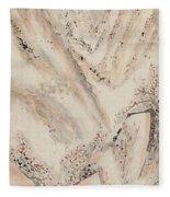 Snow Mountain Ink Painting Fleece Blanket