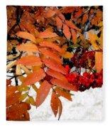 Snow On Scarlet Magick Fleece Blanket