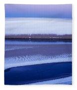 Snow On The Dunes Fleece Blanket