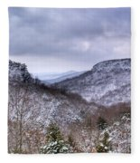 Snow On The Mesa Fleece Blanket