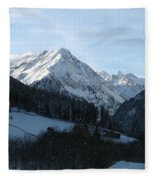 Snow On The Mountains Fleece Blanket