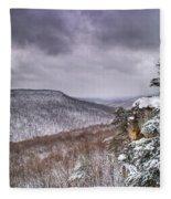 Snow On The Plateau Fleece Blanket