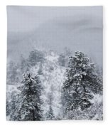 Snow On The Ridge In The Pike National Forest Fleece Blanket