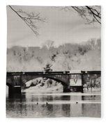 Snow On The River Fleece Blanket