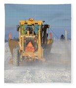 Snow Plowing Fleece Blanket