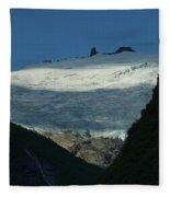 Snow Rock And Shadow Fleece Blanket