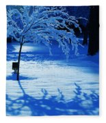 Snow Shadows Fleece Blanket