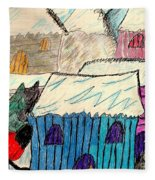 Snow Shovel Fleece Blanket