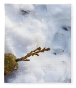 Snow Sprouts Fleece Blanket