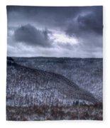 Snow Storm In The Mountains Fleece Blanket
