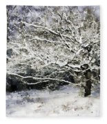 Snow Tree Fleece Blanket