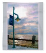 Snow Waterfront Park Walk Fleece Blanket
