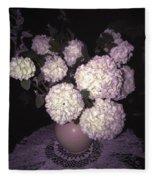 Snowball Bouquet Fleece Blanket