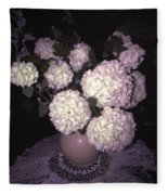 Snowball Bouquet Fleece Blanket