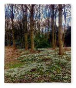 Snowdrop Woods 2 Fleece Blanket