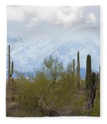 Snowfall On The Mountains Fleece Blanket