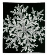 snowflake I Fleece Blanket