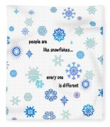 Snowflakes 3 Fleece Blanket