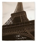 Snowing On The Eiffel Tower Fleece Blanket