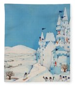 Snowman Castle Fleece Blanket