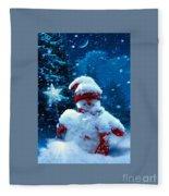 Snowman Fleece Blanket