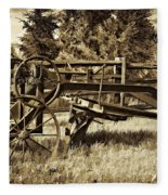 Snowplow Sepia Fleece Blanket