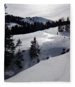 Snowshoeing Switzerland's La Berra Fleece Blanket