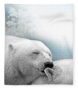 Snowstorm Kiss Fleece Blanket