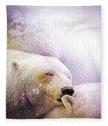 Snowstorm Kisses Fleece Blanket