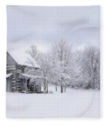 Snowy Cabin Fleece Blanket