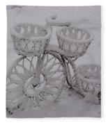 Snowy Cycle Wheel Fleece Blanket