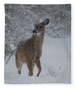 Snowy Doe Fleece Blanket