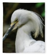 Snowy Egret Fleece Blanket