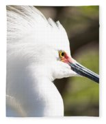 Snowy Egret Closeup Fleece Blanket