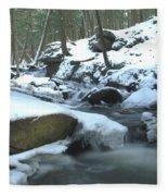 Snowy Falls Fleece Blanket
