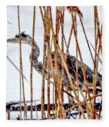 Snowy Heron? Fleece Blanket